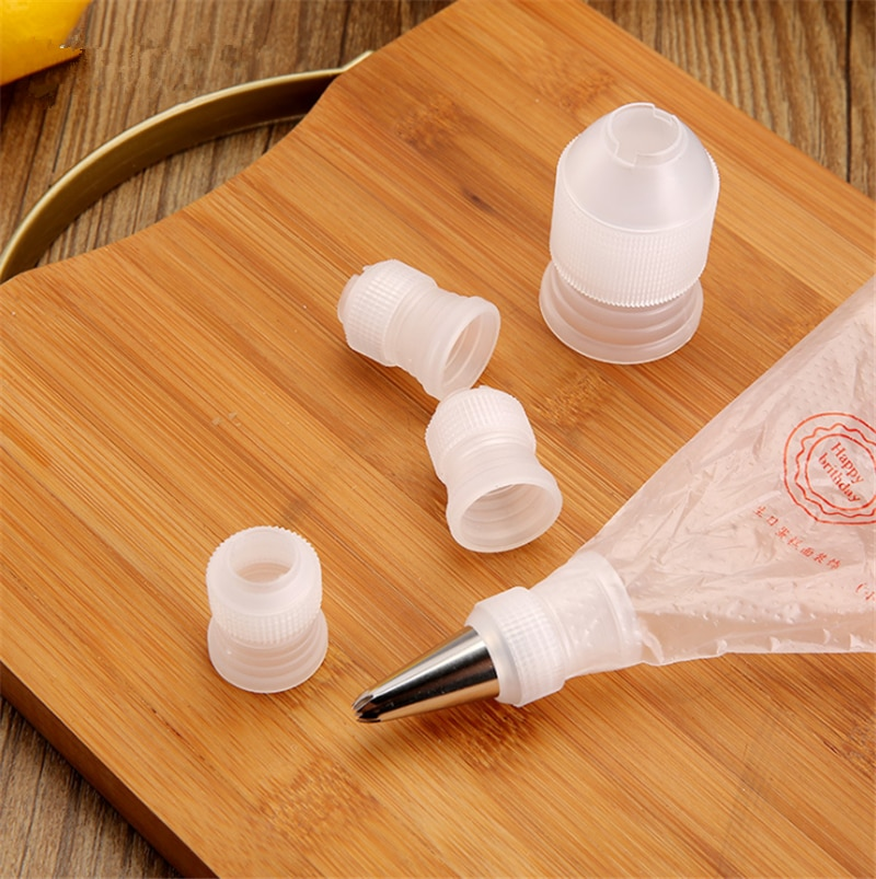 Gran oferta, 1 Uds., adaptador, funda para boquilla de manga pastelera, juego de herramientas de pastelería, flor de pastel, tamaño pequeño, conjunto de tartas, herramientas de decoración