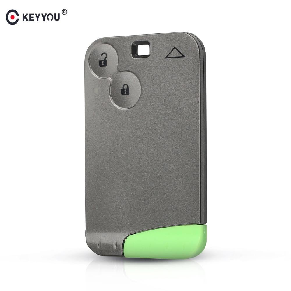 KEYYOU Neue Ersatz 2 Button Fernbedienung Schlüssel Karte Shell Fall Smart Card Schlüssel Fall Für RENAULT Laguna