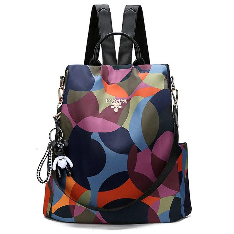 Nueva mochila para mujer estilo Oxford, mochila multifuncional, mochila informal antirrobo para niñas adolescentes, mochila escolar 2019, mochila para Dos