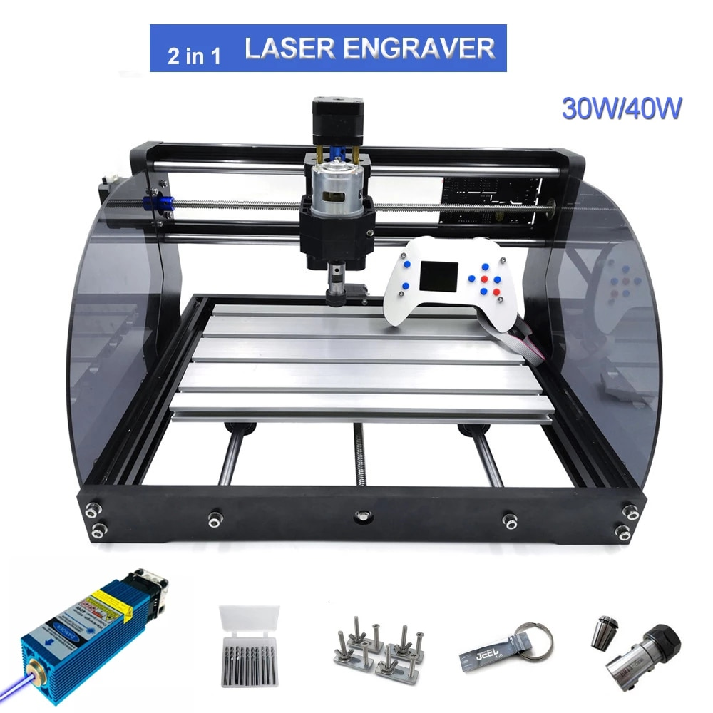 CNC Laser Engraver 30W 40W Power 3axis CNC Router  Woodworking Laser Engraving machines For Carving wood With Offline Controller