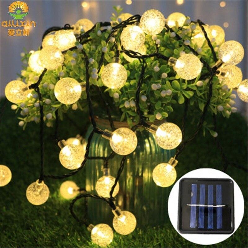 Guirnalda de Luces Led de Navidad, bola redonda, decoración de jardín, Fiesta...