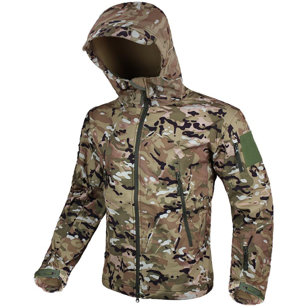 Zuoxiangru армейская камуфляжная Мужская куртка, пальто, военная тактическая куртка, зимняя водонепроницаемая Мягкая тканевая ветровка, одежда для охоты