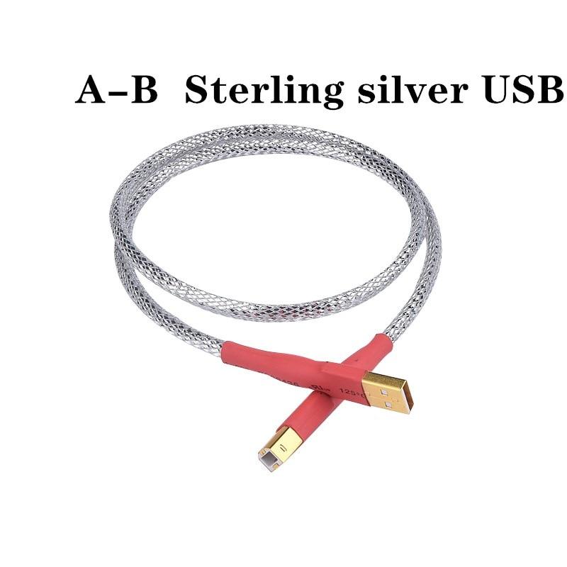 De plata esterlina 8-core decodificador dac de cabo de datos usb placa...