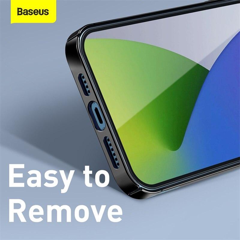 Baseus Phone Case For iPhone 12 Mini Transparent Phone Case For iPhone 12 Pro Max Ultra Thin Back Phone Cover Lens Protection