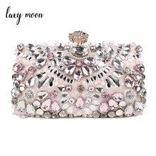 Luxy Moonสตรีคลัทช์กระเป๋าRhinestoneกระเป๋าถือคลัทช์สุภาพสตรีกระเป๋าจัดงานแต่งงานกระเป๋าถือกระเป๋า...