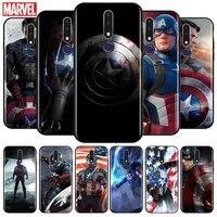 captain america for oppo f5 f7 f9 f11 f15 r9s r15 r15x r17 rx17 k1 k3 k5 pro neo tpu black phone case