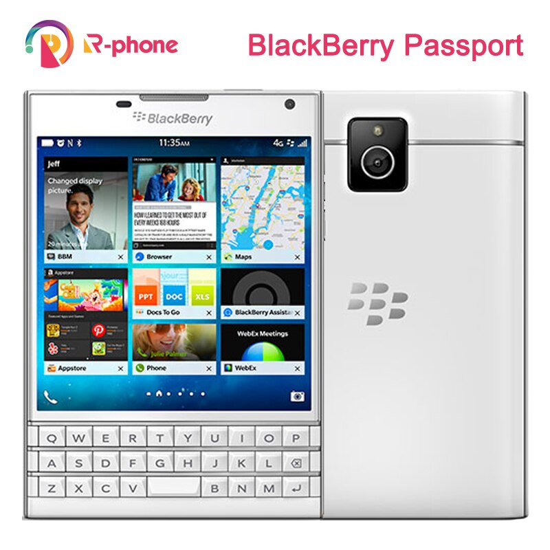 Original BlackBerry pasaporte Q30 teléfono móvil BlackBerry OS 10,3 Quad core 3GB RAM 32GB ROM 13MP Cámara reformado teléfono móvil