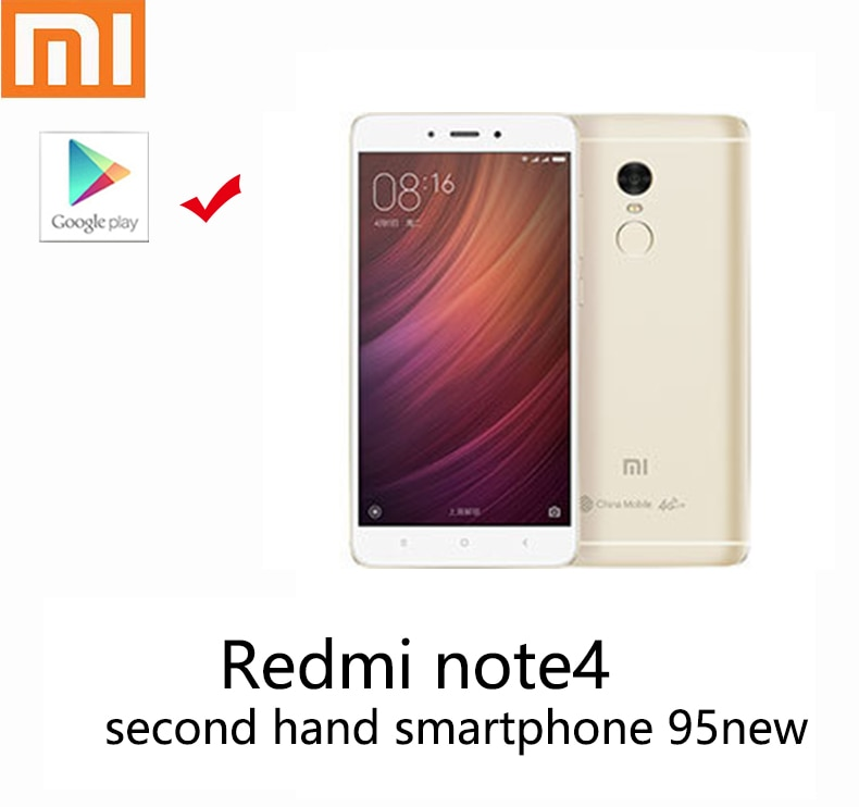 Xiaomi Redmi note4 mobile phone second hand smartphone 95new with new battery