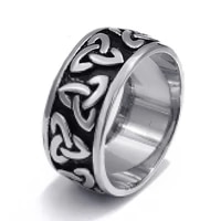vintage viking clan style pirate totem celtic ring for men classic rotating engraving boomerang style pattern ring 2021 trend