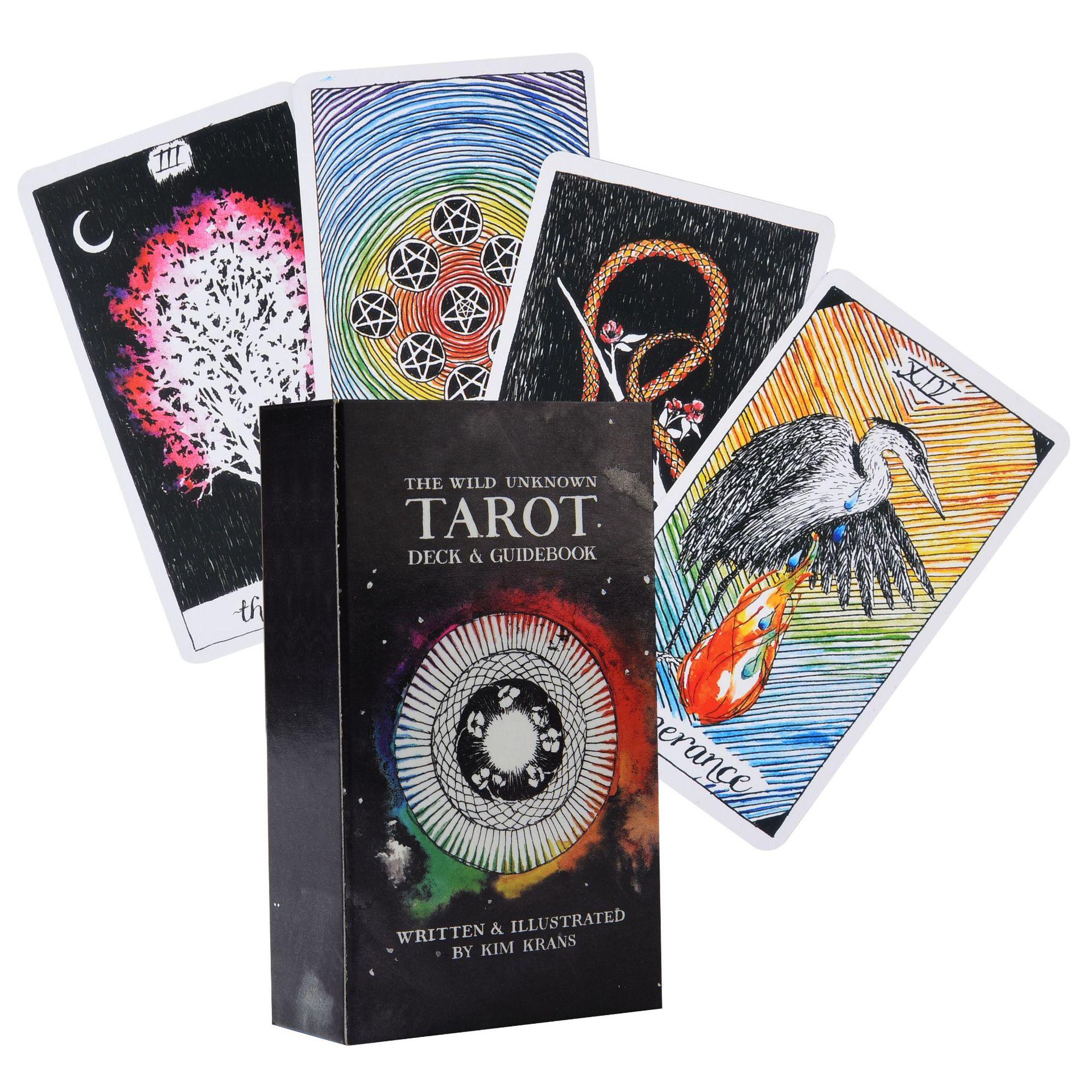 Карты Таро дикие неизвестные, колода с 78 картами, электронные руководители, доска для гадания, чтение любви, луна возле меня, начинающие