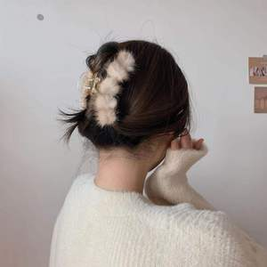In 2020 new hairpin South Korea elegant temperament, summer, fall, plush, scratching mink ins hair clip web celebrity back of