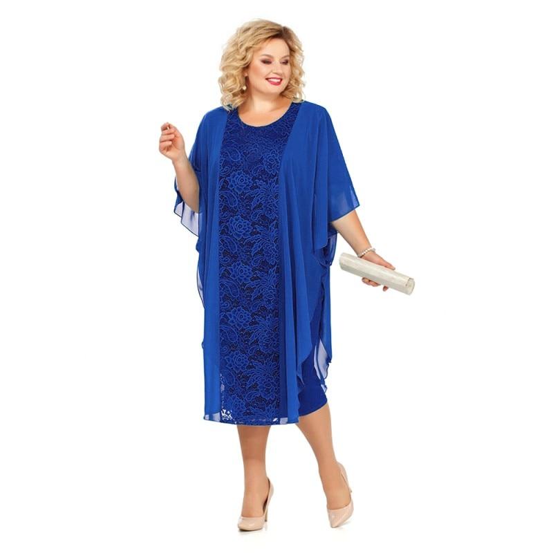 Plus Size Lace Mother Of The Bride Dresses 2020 Wedding Party Gown Tea Length robe mere de la mariee