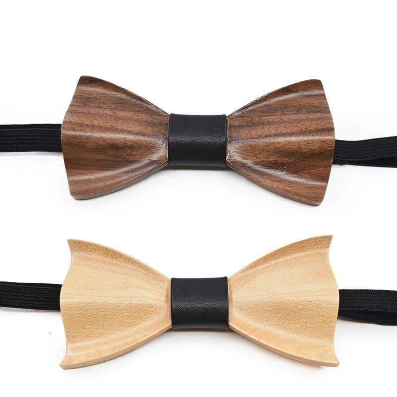 High-end 3D Wedding Tie for Men and Women Fashion Wedding Party Wooden Tie  DIY Tie Mens Gifts