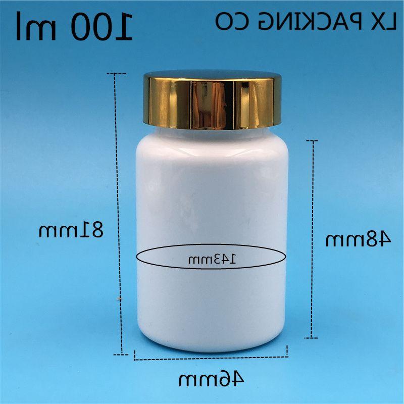 80ML100ml 100 مللي زجاجة بلاستيكية فارغة بيضاء مسحوق حبة ملح استحمام الحلوى مع ختم لصق علب فارغة شحن مجاني