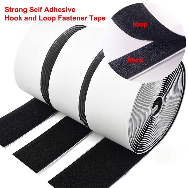 1Meter Velcros Self adhesive Hook and Loop Fastener Tape Velcros Adhesive Nylon Magic Sticker Tape with Strong Glue Hook16-110mm