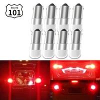 route101 8x car rear light 12v ba9s led t4w brake tail signal stop bulb auto lamp lighting red h5w 256 1895 1893 257
