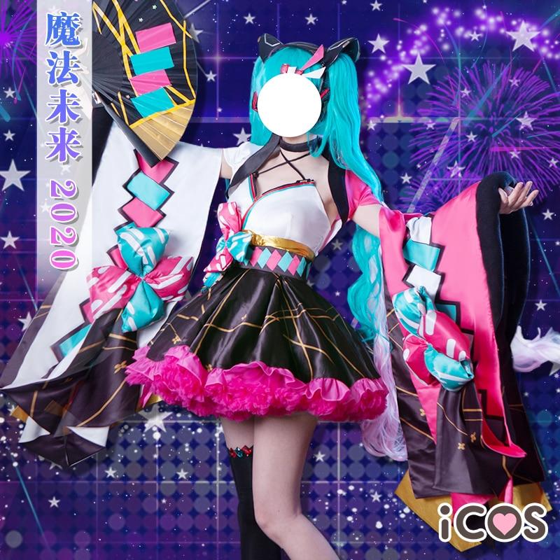 2020 Vocaloid Cosplay Miku High Quality VOCALOID Cosplay Hatsune Miku Costume Magic Kimono Dresses
