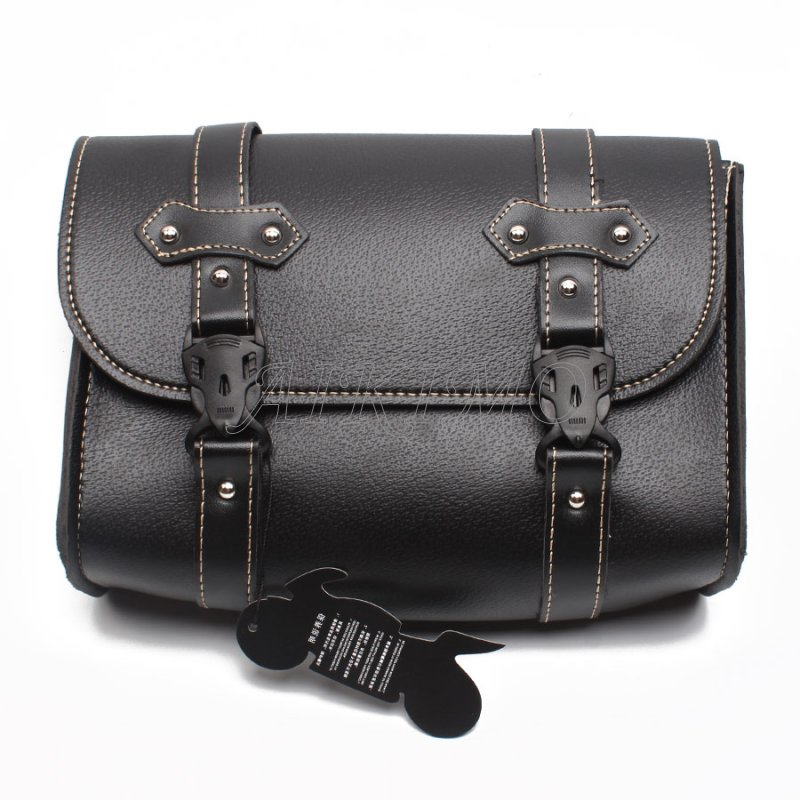 pu leather saddlebag motorcycle saddle bags l Black Motorcycle Saddle Bags PU Leather Motorbike Side Tool Pouch Tail Bag Luggage Borsello Moto Universal D20