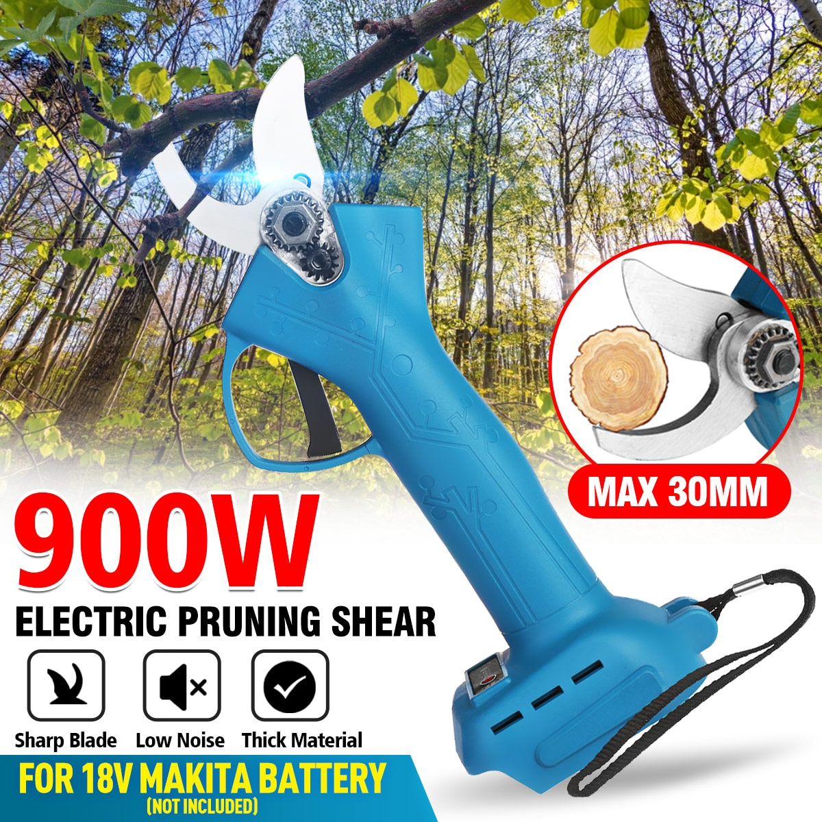 18V 900W Electric Pruner Pruning Shear with box 30mm Efficient Fruit Tree Bonsai Branches Cutter Landscaping for Makita Battery
