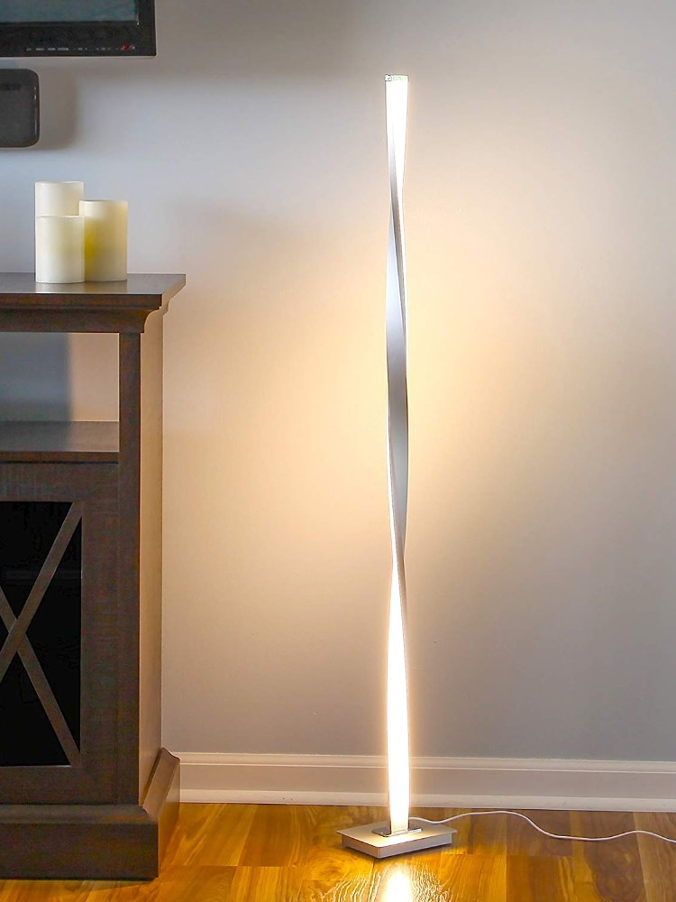 Lampara LED de pie moderna para sala de estar... poste de pastel...