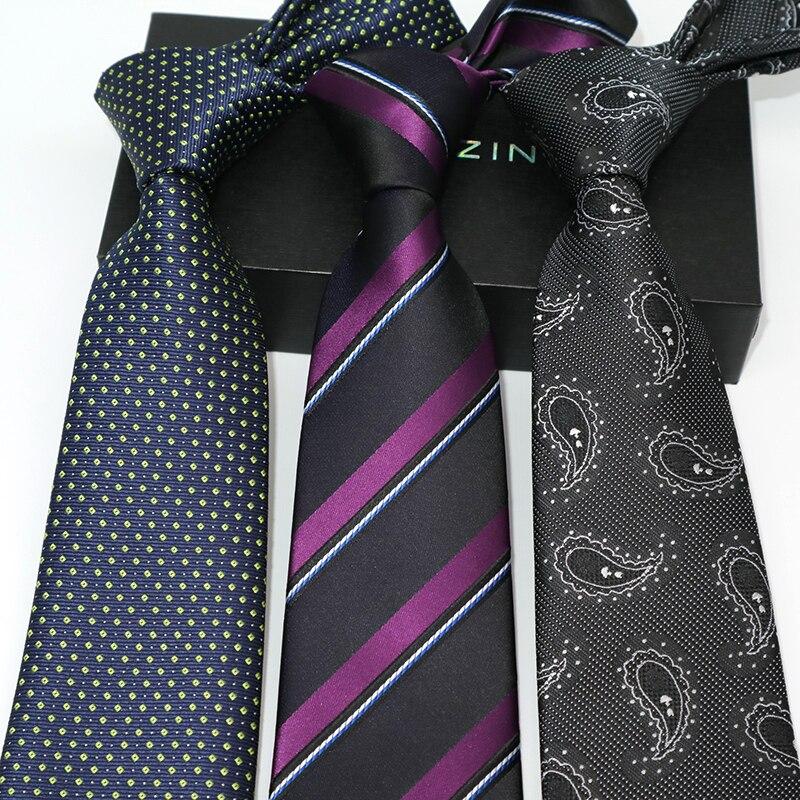 Мужские жаккардовые галстуки 8 см, галстуки в горошек, галстуки для свадьбы, официального платья, галстук, шелковые галстуки для мужчин, галс...