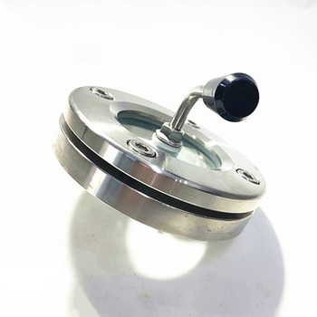 Flange sight glass with scraper with brush scraper observation hole stainless steel sight glass