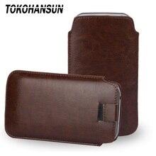 TOKOHANSUN coque de téléphone universelle pour nokia c7 150 double SIM en cuir PU sac de téléphone étuis pochette