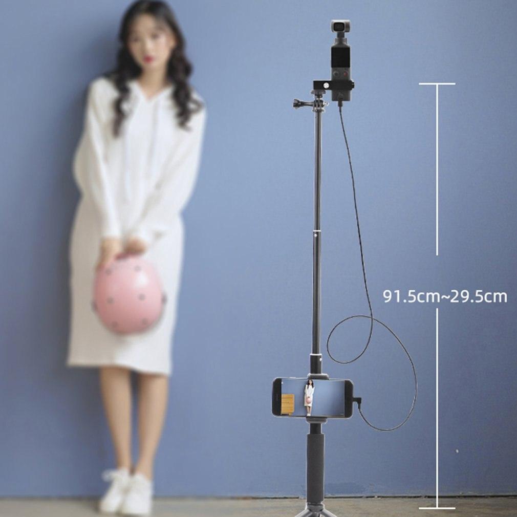 Módulo de montaje de teléfono, varilla de extensión, palo Selfie para Cable estabilizador de cardán de bolsillo de palma para accesorio IOS tipo c