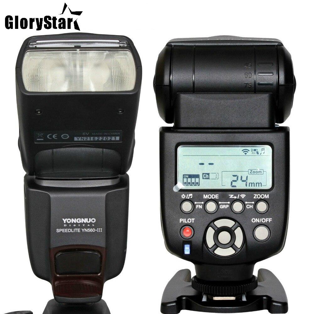Gloria estrella YN-560III profesional Flash linterna Yongnuo speedlite YN 560 III para Canon Nikon Pentax Olympus Cámara