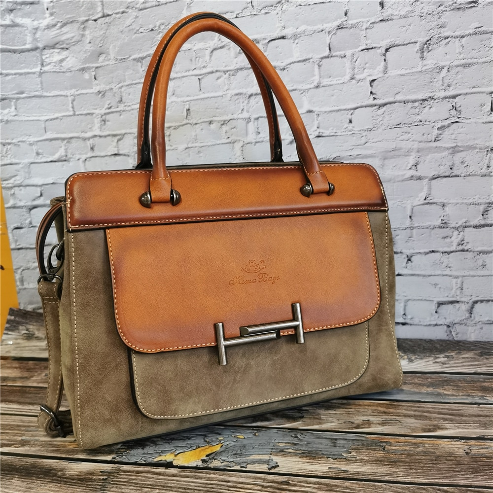 Classic Women's Leather Luxury Bag Designer Handbag Vintage Totes Ladies Shoulder Hand Bags for Women 2021 Large Capacity Purse