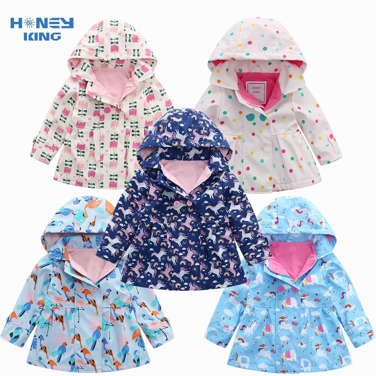 AliExpress - HONEYKING PU Waterproof Coat For Girl Baby Trench Coat Kids Baby Girls Jacket Infant Child Fleece Jacket Hooded Outerwear