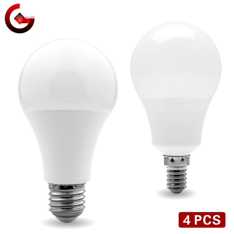 4pcs/lot LED Bulb E27 E14 20W 18W 15W 12W 9W 6W 3W Lampada LED Light AC 220V Bombilla Spotlight Lighting Cold/Warm White Lamp