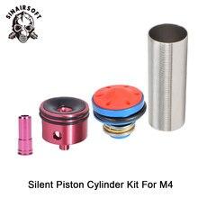 Venta MA 4 Uds culata/cabeza de pistón/boquilla/juego de cilindro para la serie M4 Airsoft AEG Paintball tiro accesorios de caza