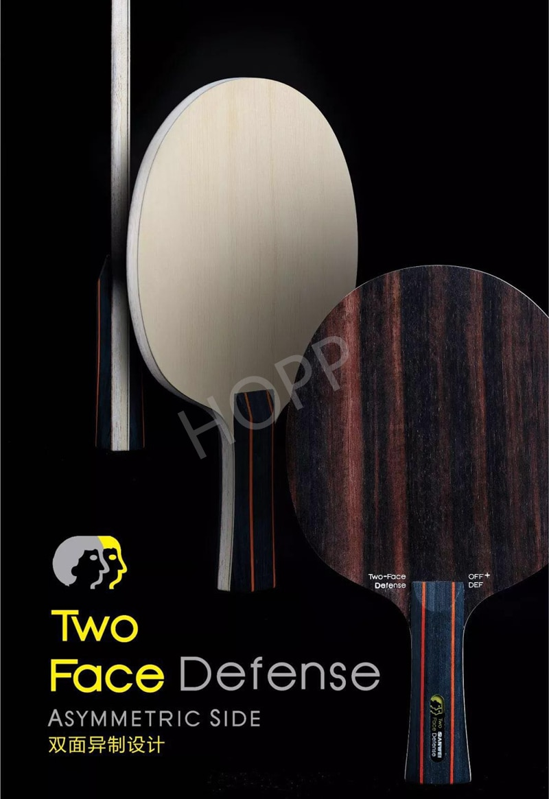 SANWEI TWO FACE DEFENSE Table Tennis Blade attack+ defence Ebony+ Hinoki surface sanwei ping pong racket bat paddle