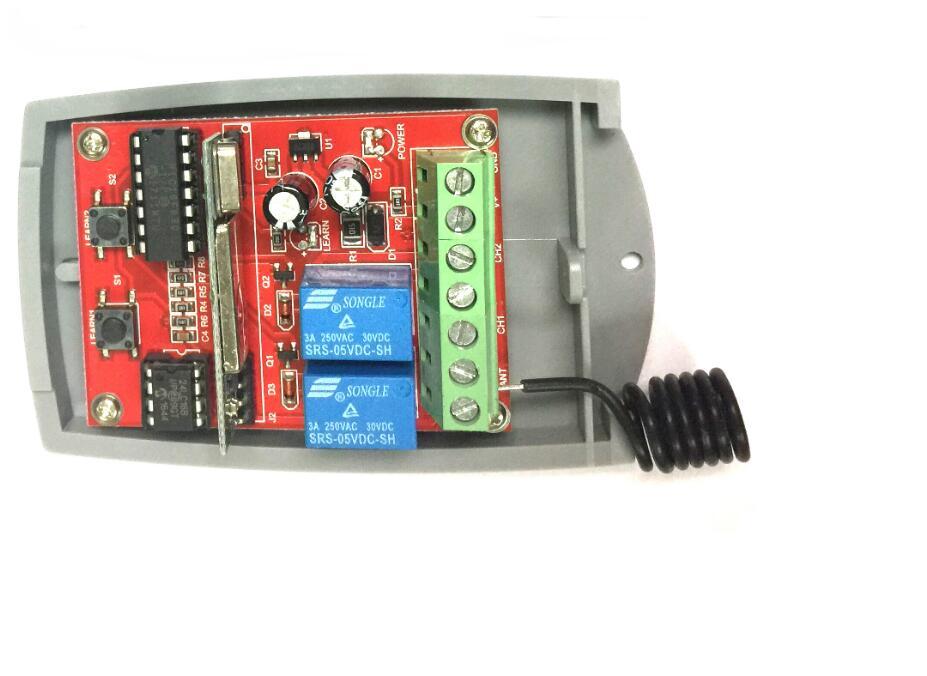 Для постоянного тока 12-24V Универсальный приемник спутникового приемника с гаражная дверь пульт дистанционного управления воротами дистанц...