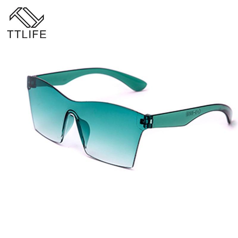 TTLIFE gafas De Sol De gran tamaño para mujer, gafas De Sol De diseñador De marca De lujo, espejo De Color caramelo, gafas De Sol Rave Festival YJHH0210