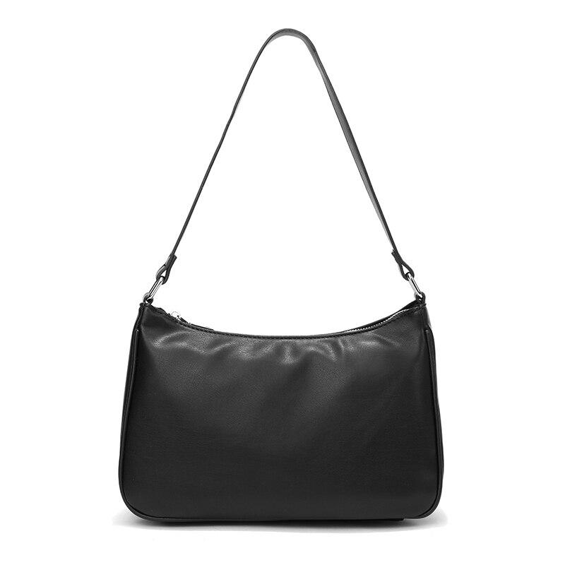 2020 новая маленькая сумка через плечо винтажная Дамская Сумочка Хобо Сумка для женщин PU кожаная женская сумка-багет Дамская дизайнерская су...