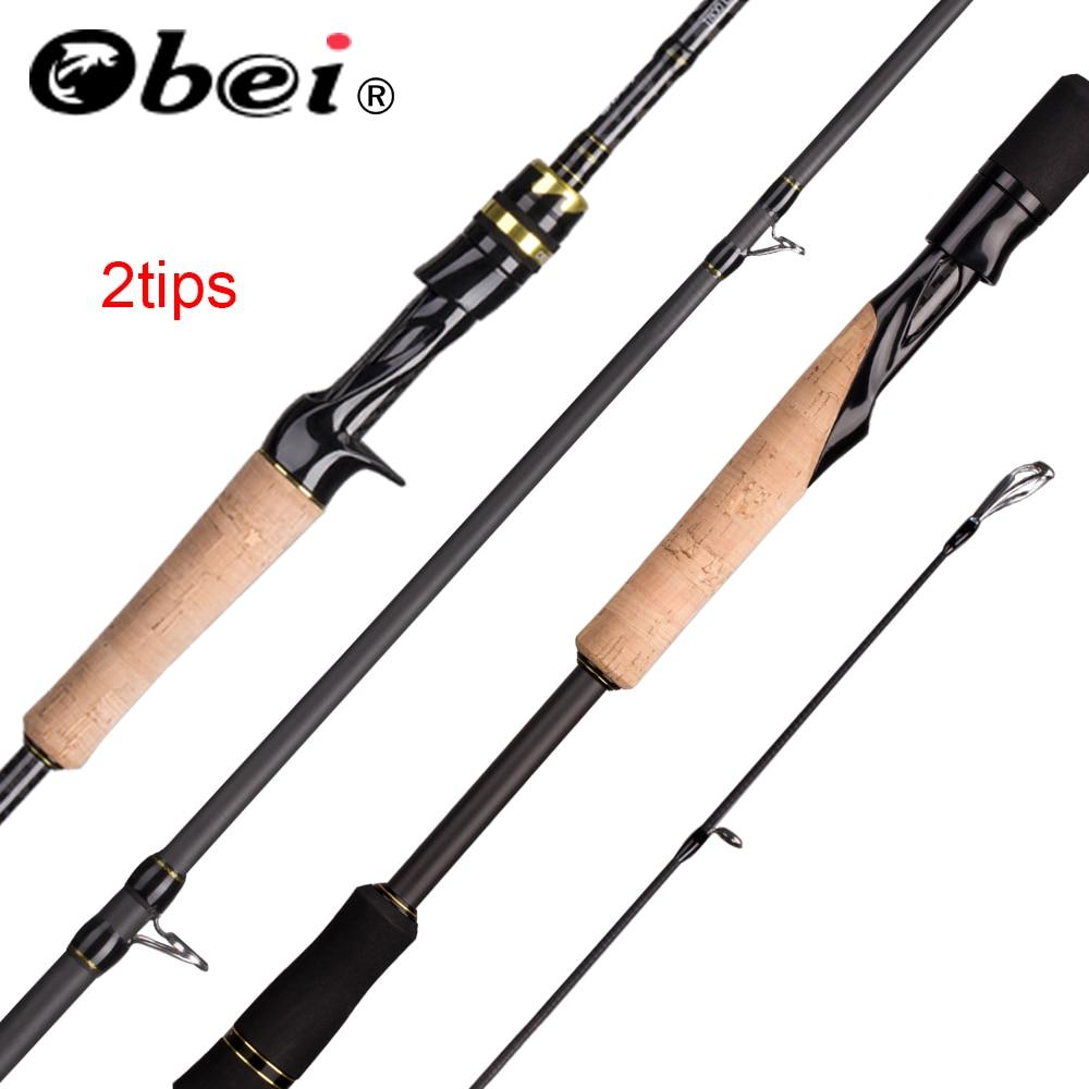 Obei elf coulée filature pêche rod1.8 2.1 2.4m M/MH voyage rue appât double conseils canne rapide vara de pesca 13-39g canne à pêche