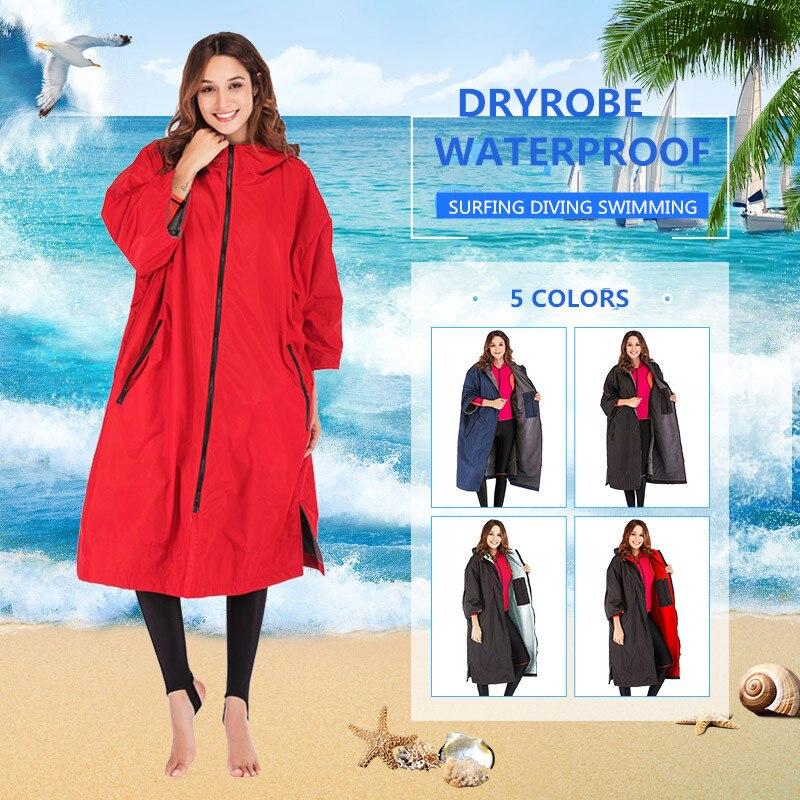 dry robe hot sale waterproof hoodie poncho wet suit dryrobe with microfiber terry toweling lining недорого