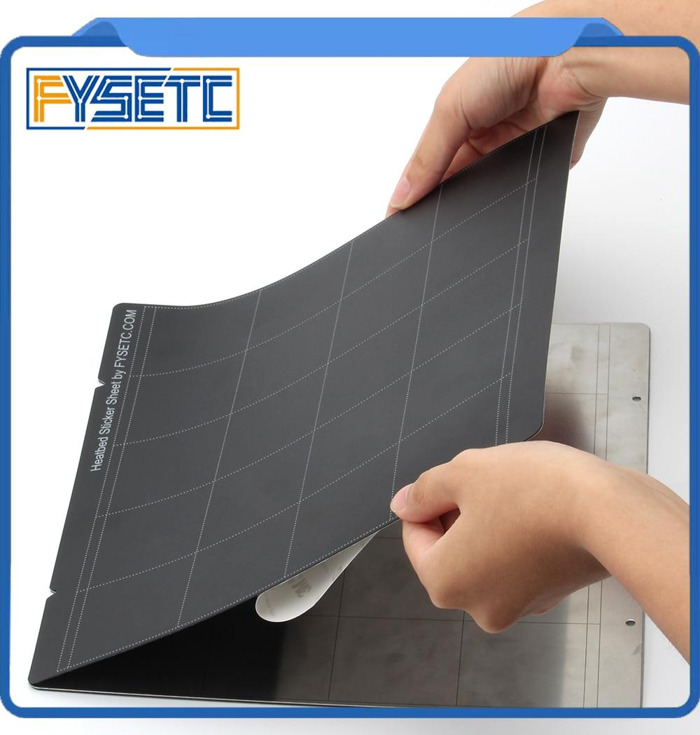 2x Lastest black Prusa i3 MK3 MK52 лист Тепловая кровать платформа 3D принтер Buildplate стикер лист для Prusa i3 Mk3 Mk2.5 Тепловая кровать