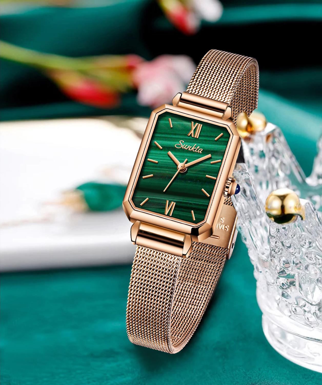 SUNKTA Luxury Ladies Watch Fashion Creative Rose Gold Women Wrist Watches Ultra thin Mesh Strap Waterproof Clock Relogio Feminin enlarge