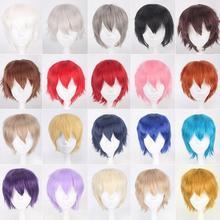 30CM 20 colori gioco Persona 5 Kurusu Akira parrucca corta Costume Cosplay resistente al calore capelli sintetici Joker Amamiya Ren parrucche da uomo