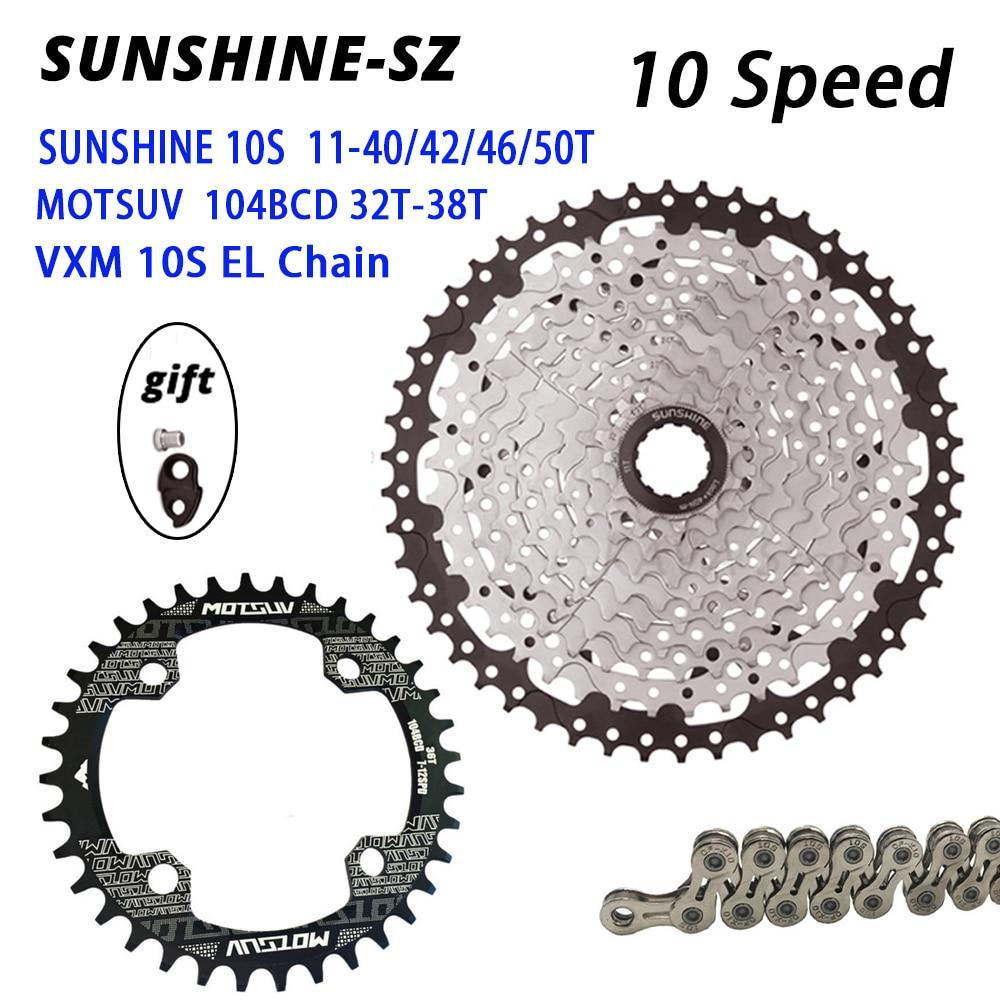 SUNSHINE vtt vélo de route 10 vitesses vélo roue libre Cassette volant Kit 10 S 40/42/46/50T pour deore m6000 SRAM pièce de vélo