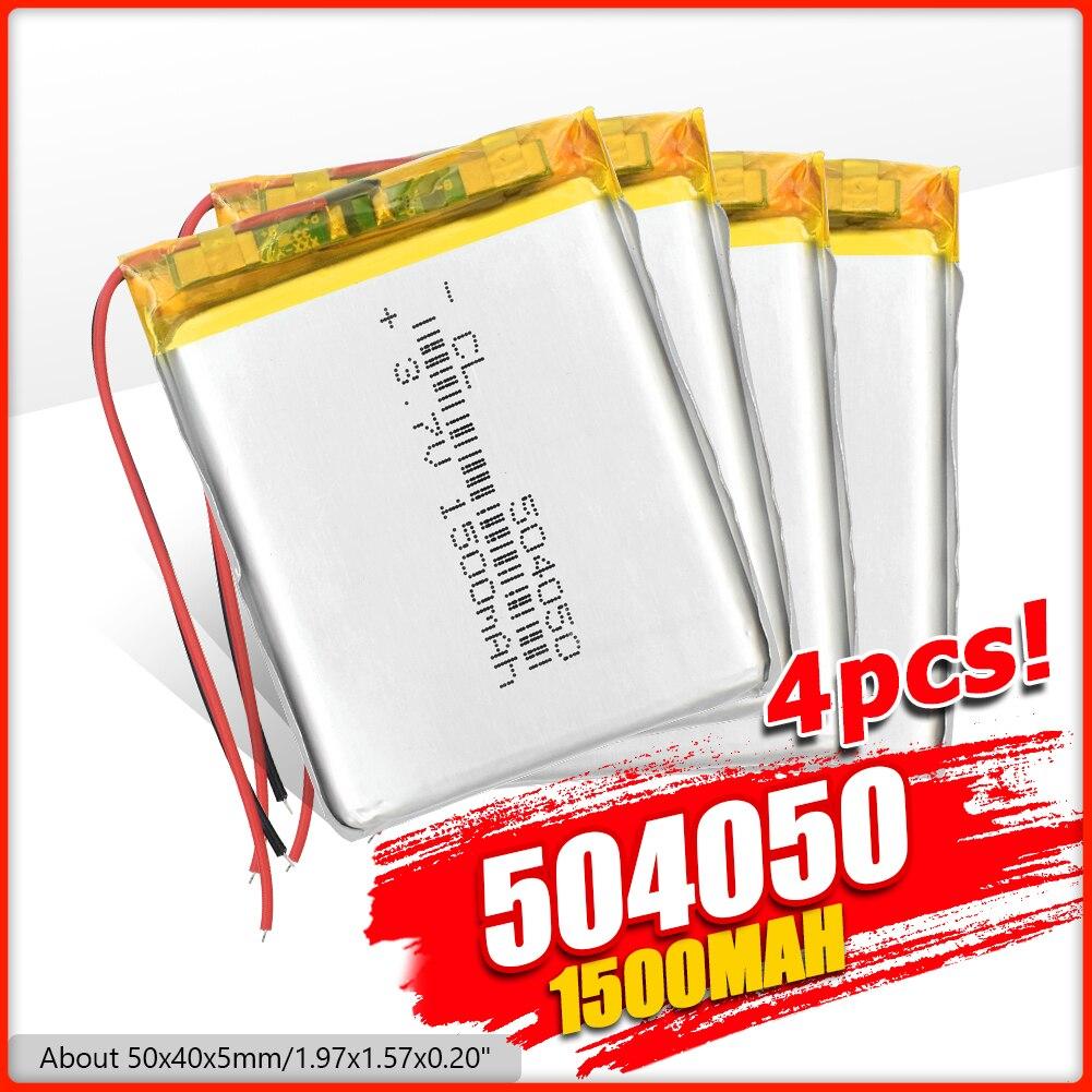 Baterias recarregáveis da substituição do li-polímero do lítio do li-po da bateria lipo de 504050 3.7v 1500mah para o orador de mp4 gps dvd psp bt