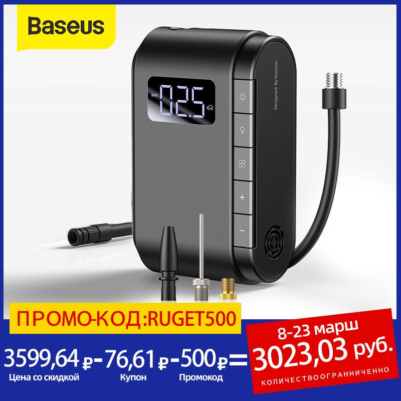 Baseus Wireless Inflatable Pump Portable Electric Air Pump For Car Motorcycle Bicycle Tire Inflator Smart Car Air Compressor