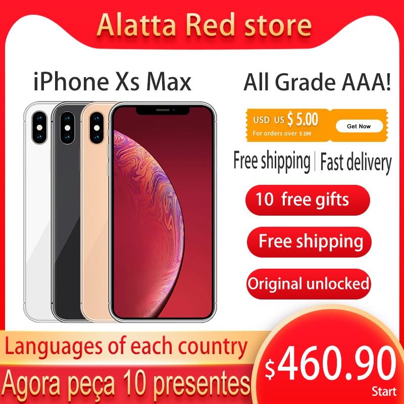 Genuin Original Unlocked Apple iPhone Xs Max used 6.5 inch Face ID NFC 64GB/256GB Smartphone A12 Cellphone iphonexsmax