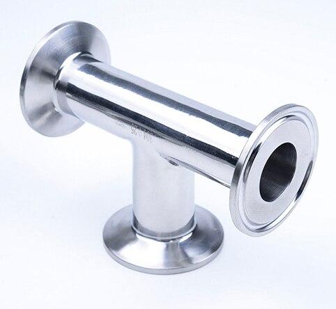316L 2 OD-1/4 57 milímetros Sanitária de Aço Inoxidável Braçadeira Tri Tee 3 maneira Sanitária Ponteira Conector Tee encaixe de tubulação