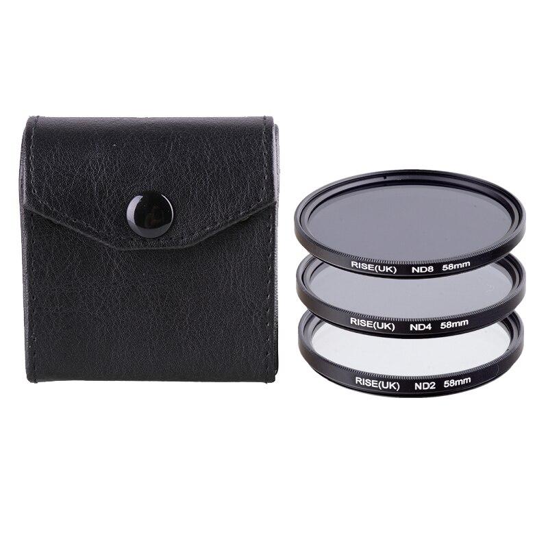 RISE (UK) 49/52/55/58/62/67/72/77mm densidad neutra ND2/4/8 juego de filtros para cualquier lente de cámara DSR DLSR