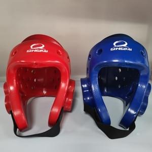 Free shipping good quality taekwondo helmet Red Blue karate head guard taekwondo heargear protection mma boxing safety helmets