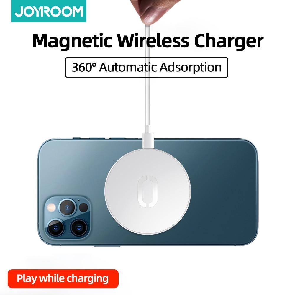 Joyroom-شاحن لاسلكي لأجهزة iPhone ، شاحن مغناطيسي لأجهزة iPhone 12 Pro ، Max ، 15W ، لـ iPhone 12 ، 11 ، XS ، X ، XR ، Airpods ، مرئي ، Qi